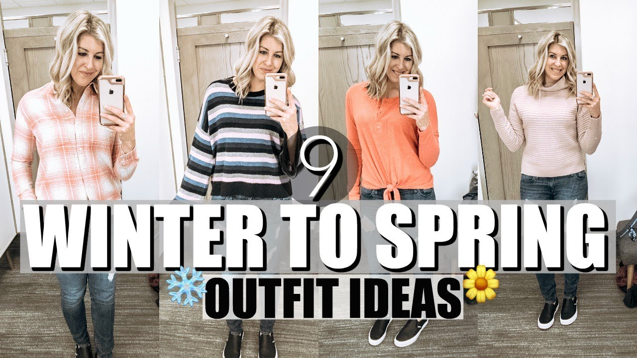 Women's Winter To Spring Lookbook | Winter to Spring Transition Outfits 2019 | Shopping Vlog 4