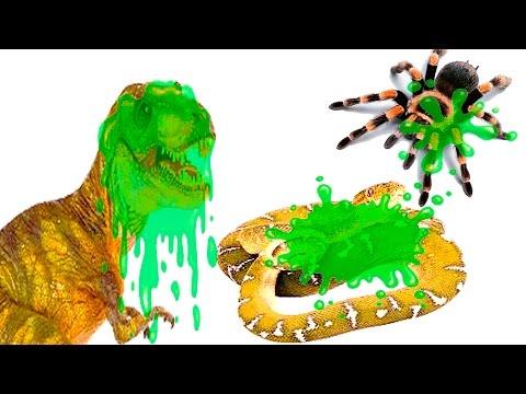 Динозавры для детей. Сопли, слизь! Тиранозавр. Змея. Паук. Театр игрушек. Мурзик ТВ