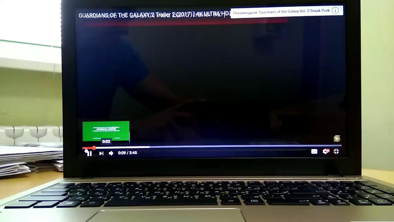 Asus x540l 4k video play