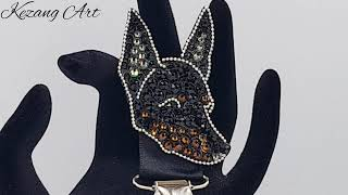 English Toy Terrier Bespoke Ring Clip