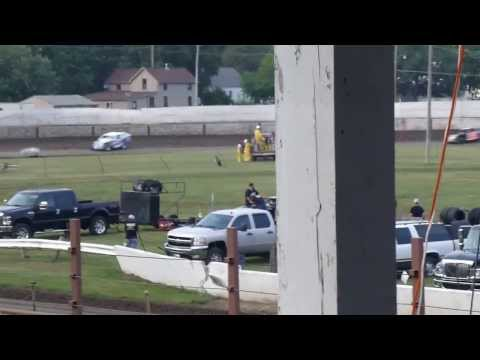 West Liberty Raceway tornado tues mod heat 3 8/6/13
