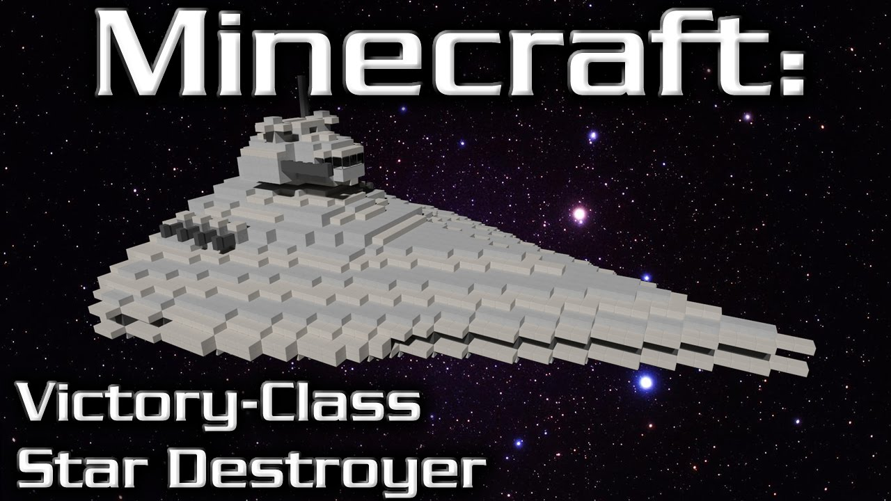 how to build the star destroyer in minecraft