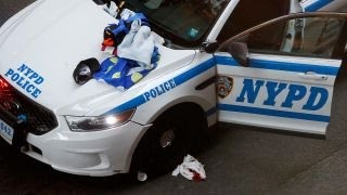 Man wielding meat cleaver injures three NYPD officers
