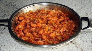 солянка тушеная капуста с сосиской