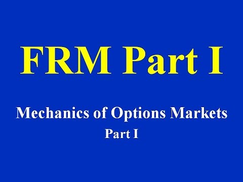 FRM Part I-  Mechanics of Options Markets Part I