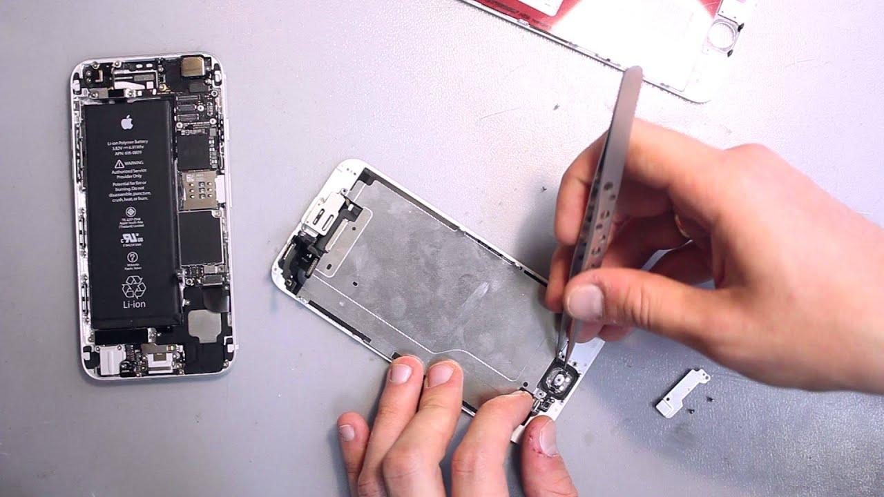 Замена дисплея (экрана) iPhone 6 - YouTube