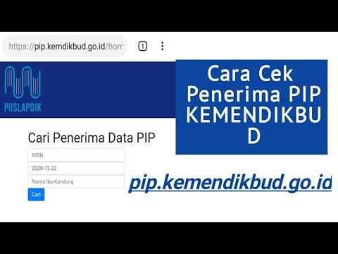 Cara Cek Data PIP KEMENDIKBUD lewat pip.kemendikbud.go.id