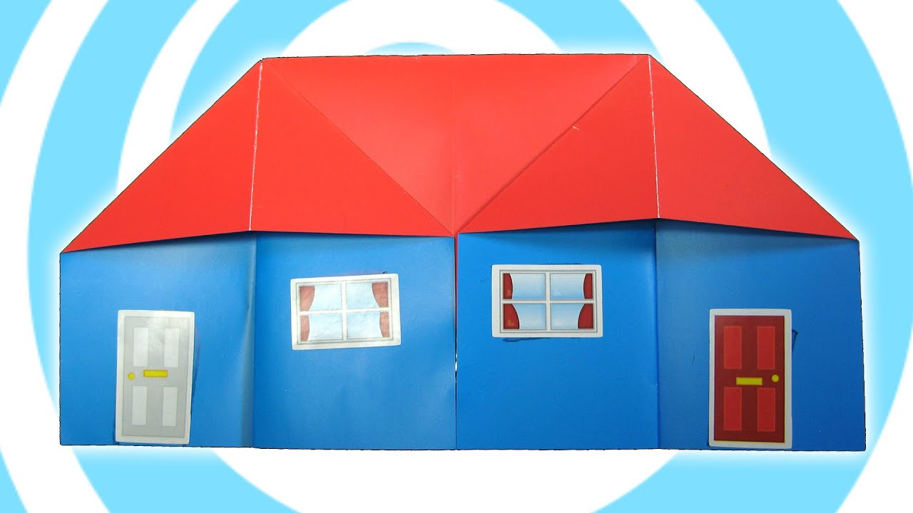 Easy origami house tutorial youtube for How to make a house step by step