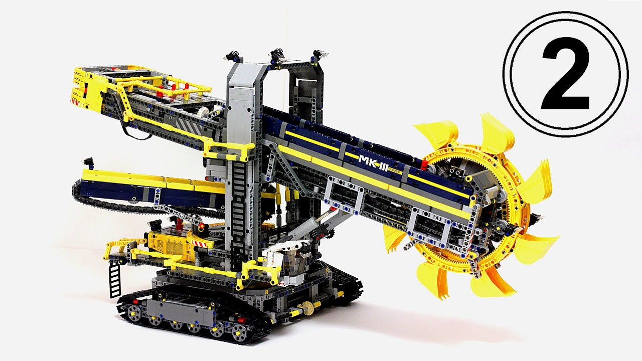 Лего техник 42055 Роторный экскаватор. Обзор самого большого .