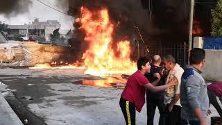 حريق حي الجهاد . وشجاعة رجال الاطفاء