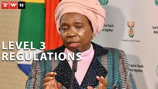 Cooperative Governance and Traditional Affairs Minister Nkosazana Dlamini-Zuma is briefed the nation on the level 3 lockdown regulations that will kick in on 1 June. As the country prepared to move to level three, Dlamini-Zuma said the state of lockdown will continue until the curve was flattened.  #COVID19SA #NDZ #Level3