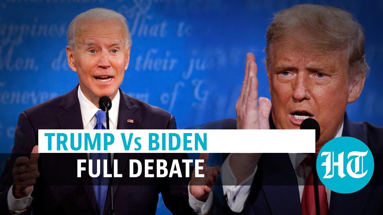 Trump Vs Biden final faceoff l Full presidential debate l US Election 2020