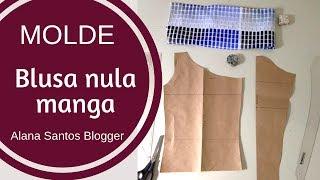 Molde blusa nula manga - NOVIDADE Alana Santos Blogger