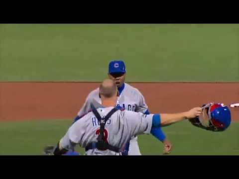 AROLDIS CHAPMAN - Strikes OUT the Side (Bot 9) Cubs WIN NLDS