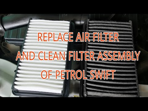 Replace Air Filter & Clean Filter Assembly Of Petrol Swift At Home