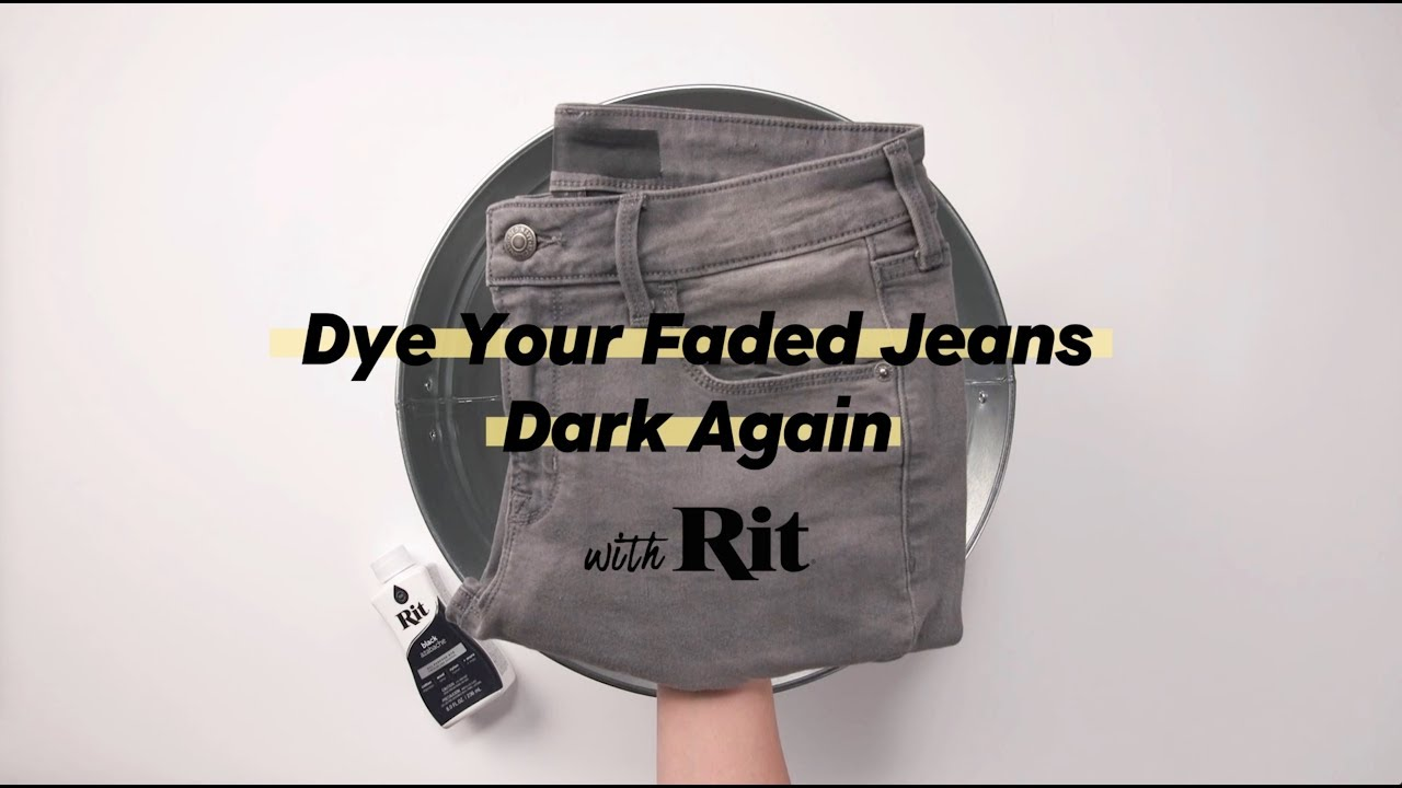 How To Dye Jeans