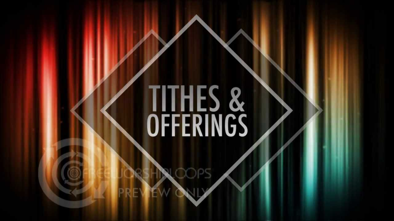 Colorful Streaks Of Light Tithes Offering Bumper For