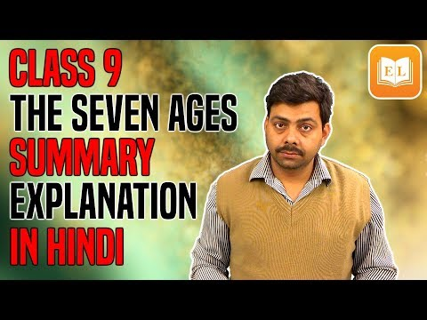 The Seven ages By William Shakespeare   Summary Explanation in Hindi