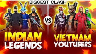 FREE FIRE BIGGEST CLASH WAR LIVE  BETWEEN INDIAN SERVER VS VIETNAM  - GARENA FREE FIRE LIVE