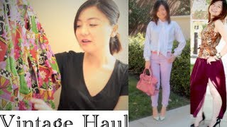 Spring Summer Vintage Thrift Haul and Style Lookbook Thumbnail