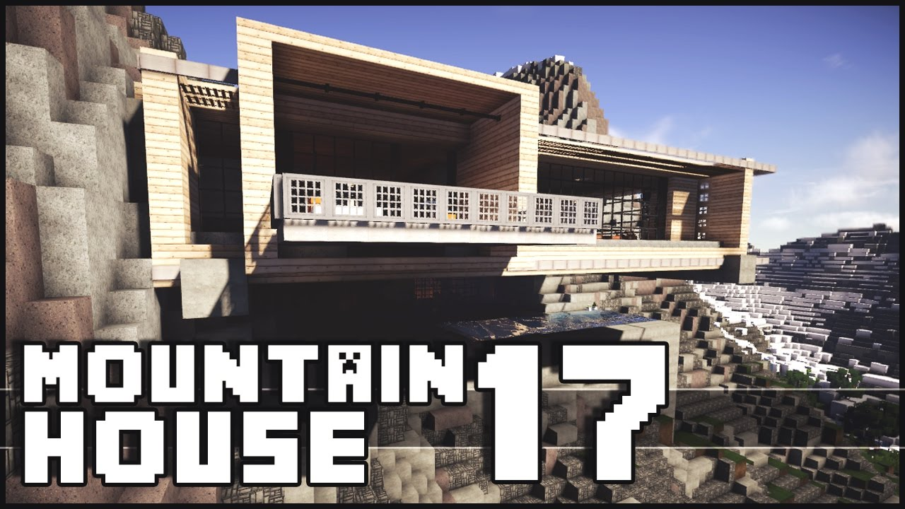 Modern Mountain House Minecraft Epic Batcave Modern Mountain House 17 Youtube
