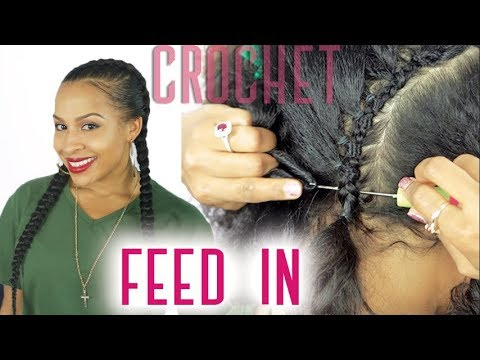 Feed In Cornrows Crochet Braid Style