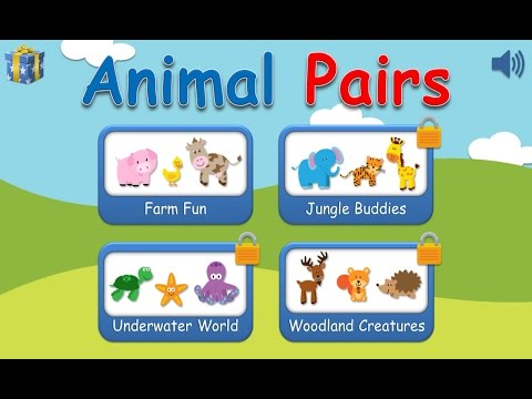 Animal Pairs matching game - new app available on iPhone and iPad, Windows 10, Android, Amazon