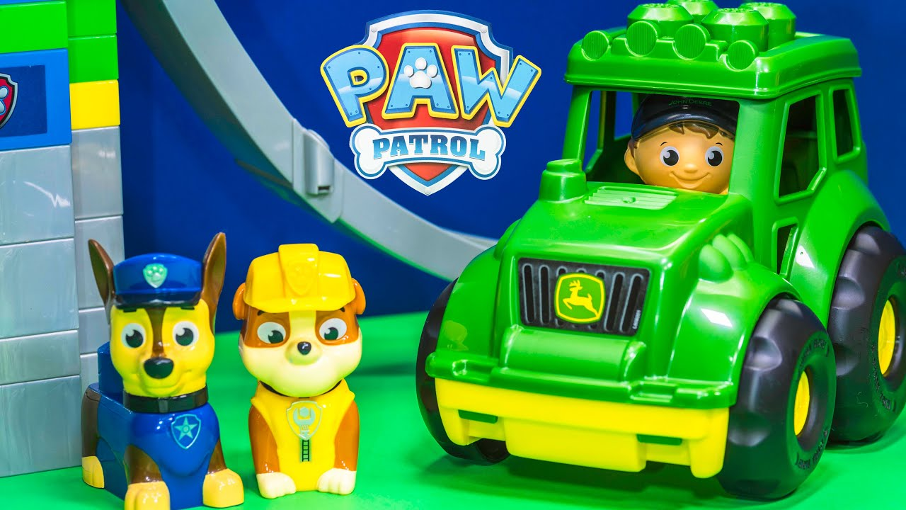 Paw Patrol Has A New John Deere Tractor Driven By Rubble