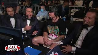 Saúl 'Canelo' Álvarez habla con el Box Azteca Team luego de la sorprendente victoria ante Yildirim