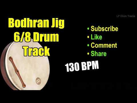 Bodhran Irish Celtic Jig Drum Track - 130 Bpm Drum Track