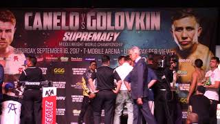 CANELO G.G.G. OFFICIAL WEIGH IN