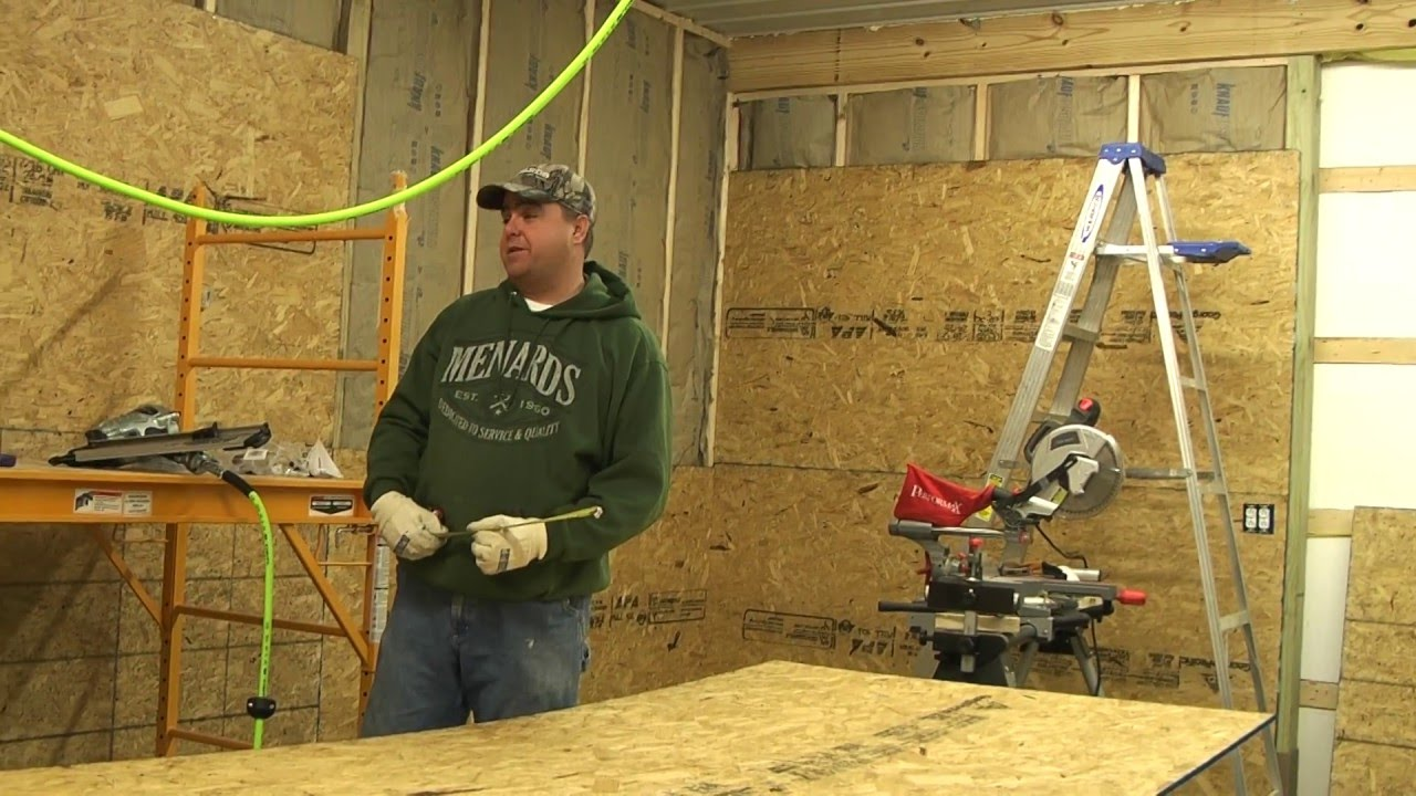 Pole Building With Block Wall : Pole barn shed install osb and feed pete the rabbit youtube