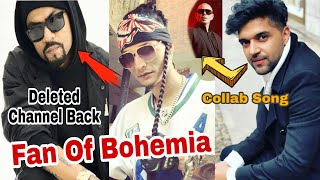Bohemia's YouTube Channel Back|Gopi longia Fan of Bohemia|Guru Randhawa Collab Pitbul| Desi Rap News