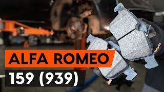 Kuinka vaihtaa etu jarrupalat ALFA ROMEO 159 1 (939) -merkkiseen autoon [AUTODOC -OHJEVIDEO]