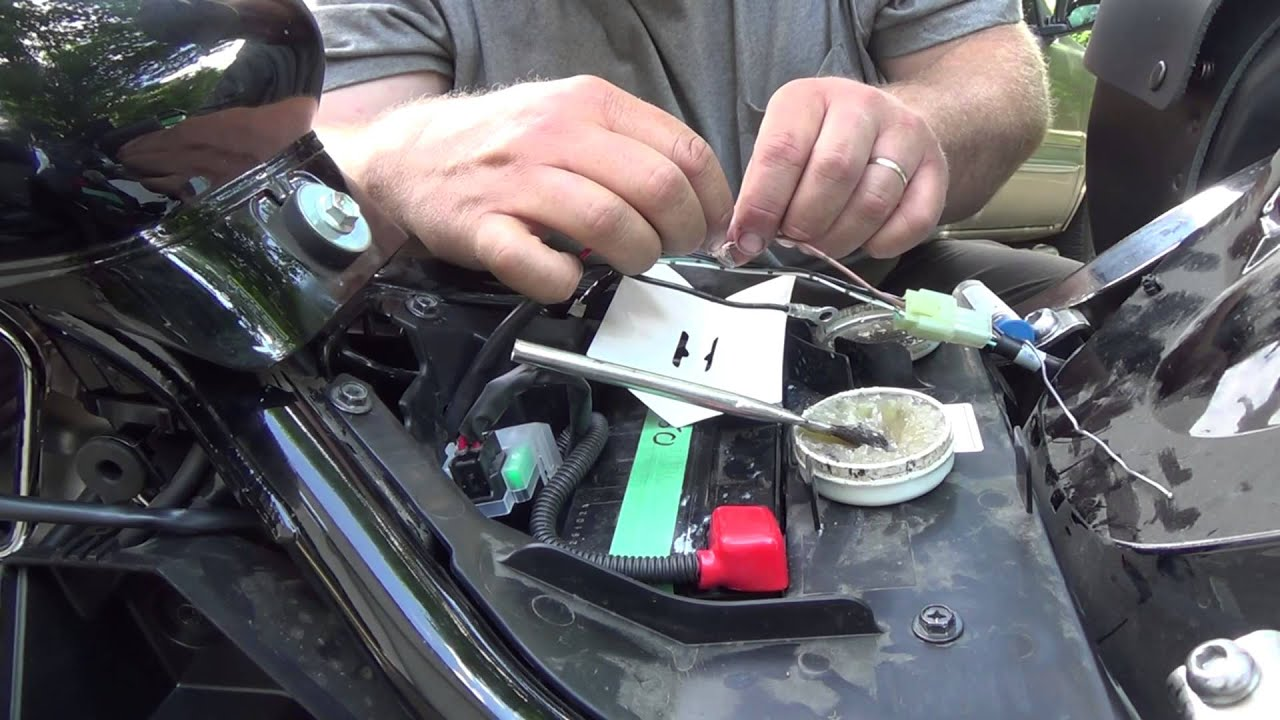Wiring In A Usb Charging Port On The Suzuki Boulevard Youtube Wire Diagram For Turn Signal M109