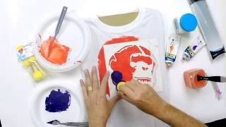 Demonstration:  T-Shirt Printing With Stencils – Derivan Fabric Fixative