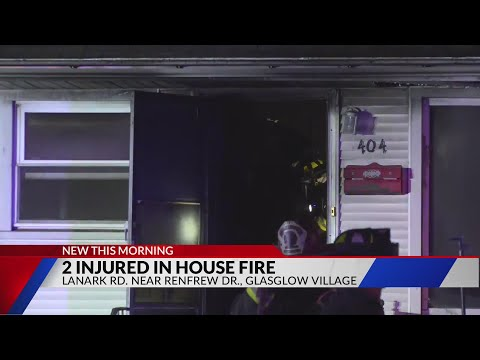 Two people hospitalized after house fire in Glasglow Village
