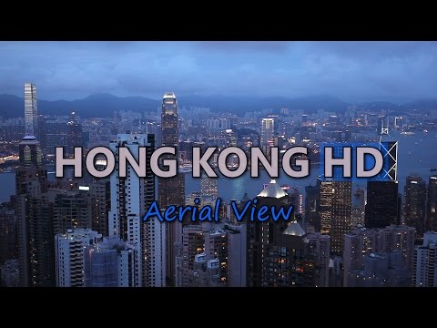 Hong Kong Aerial View Travel China Vacation Sightseeing Tourist Attraction HD Video Stock Footage