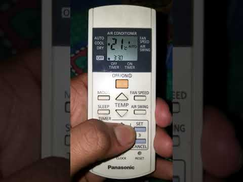How To Timer Set On Panasonic A.c. Remote  Full Details
