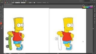 How to create a Vector Bart Simpson Character in Illustrator