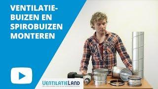 Hoe monteer ik een VENTILATIEBUIS of SPIROBUIS? | Ventilatieland.nl
