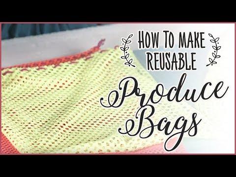 How To Make A Reusable Drawstring Produce Bag