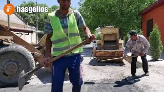 В Хасавюрте ведутся работы по ремонту дорожных покрытий