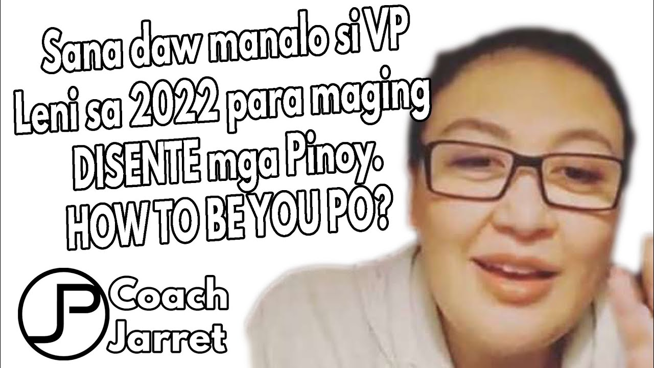 SHARON CUNETA GUSTO MAGING PRESIDENTE SI LENI PARA MAGING DISENTE ANG PINOY | HOW TO BE YOU PO?