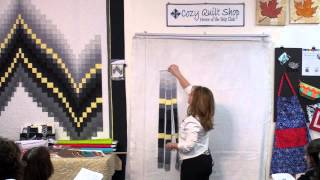 No-measure Bargello- Strip Pattern By Cozy Quilt Designs