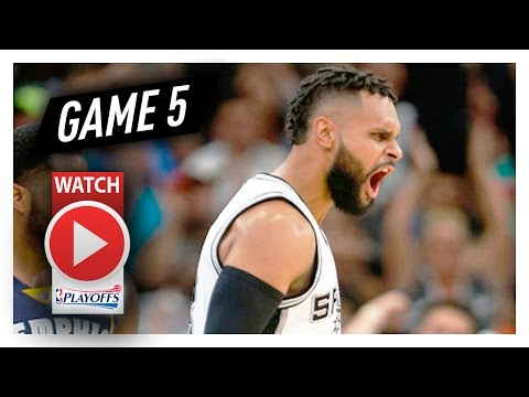 Patty Mills Full Game 5 Highlights vs Grizzlies 2017 Playoffs - 20 Pts, 5 Threes