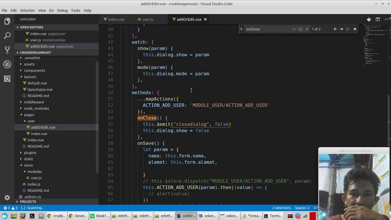 crud nuxt js dengan vuex bahasa indonesia part 2