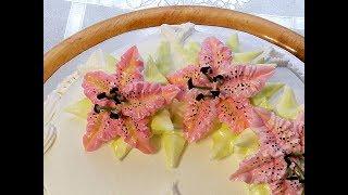 КАК СДЕЛАТЬ ТИГРОВУЮ ЛИЛИЮ ИЗ КРЕМА от SWEET BEAUTY СЛАДКАЯ КРАСОТА , CREAM FLOWER