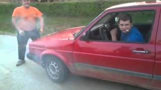 VW golf mk 2 burnout vs bosanac