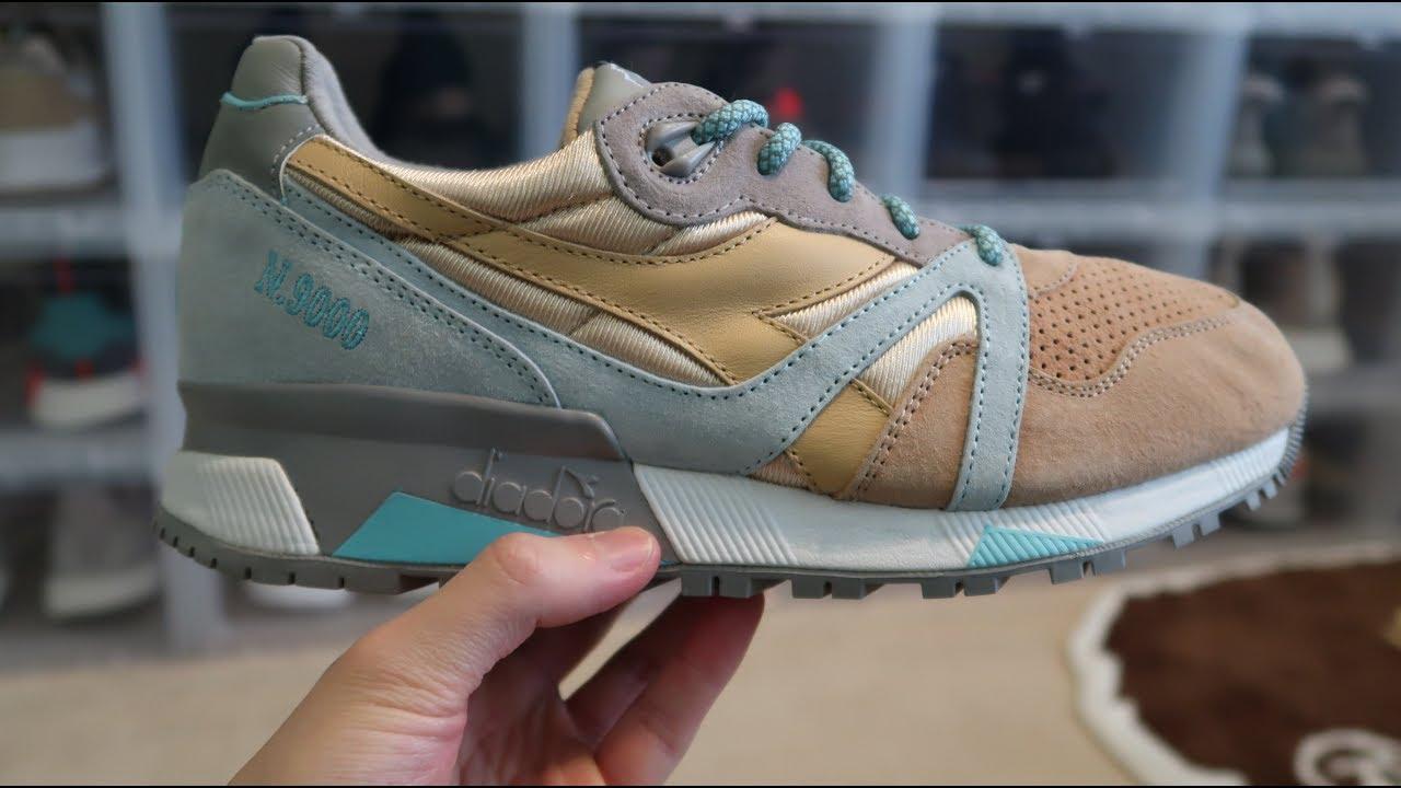 e6542796446 Diadora x 24 Kilates N9000  Sol  Sneaker unboxing - YouTube